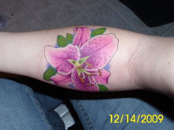 purple 24 Stargazer Lily Tattoos Which Are Completely Different