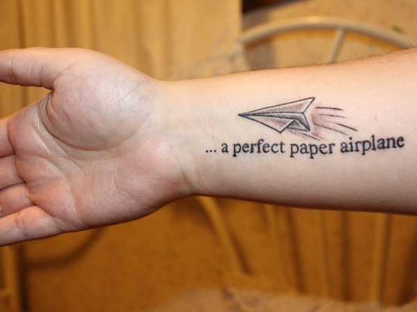 Airplane Tattoo Quote