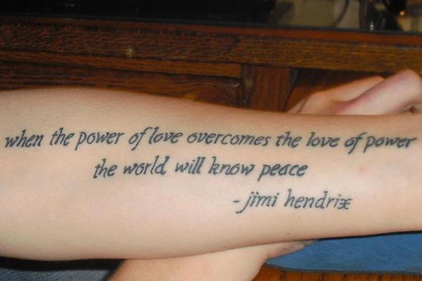 forehand quote 100 Tattoo Quotes You Should Check Before Getting Inked