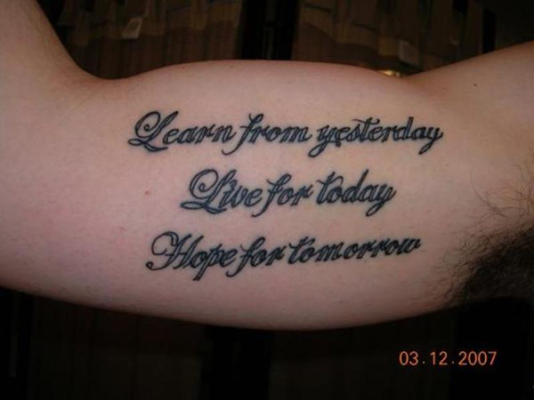Bicep Quote Tattoos