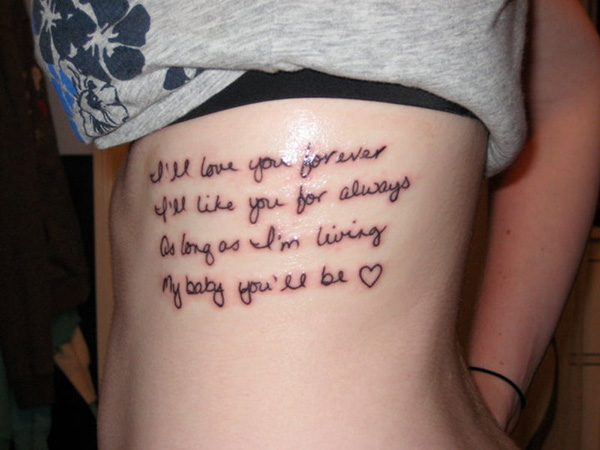 love you forever 100 Tattoo Quotes You Should Check Before Getting Inked
