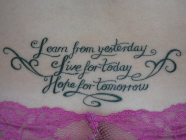Tattoo Quotes For Women About Life