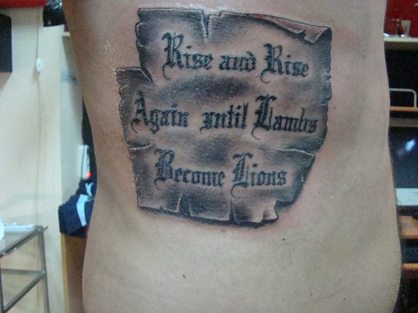 quote tattoo design 100 Tattoo Quotes You Should Check Before Getting Inked