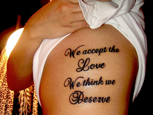 rib cage quote 100 Tattoo Quotes You Should Check Before Getting Inked