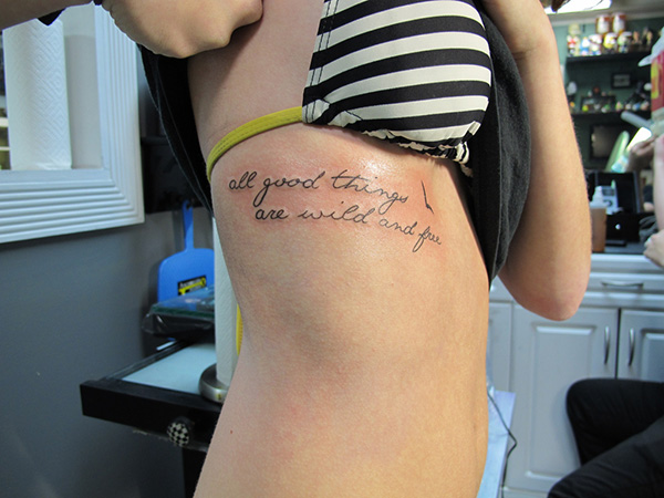 second rib tattoo 100 Tattoo Quotes You Should Check Before Getting Inked