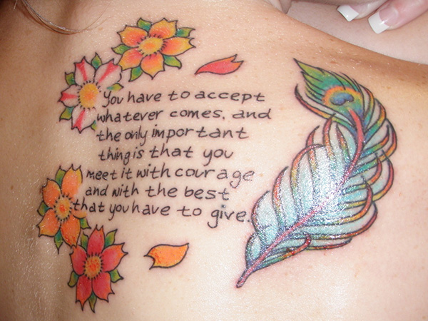 Courage 100% Tattoo Quotes