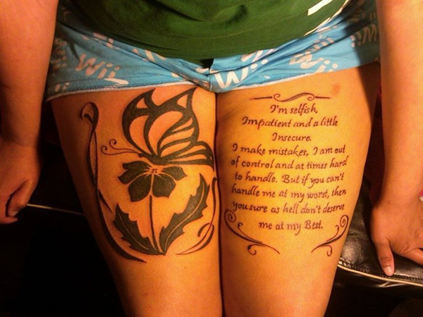 tribal butterfly quote 100 Tattoo Quotes You Should Check Before Getting Inked