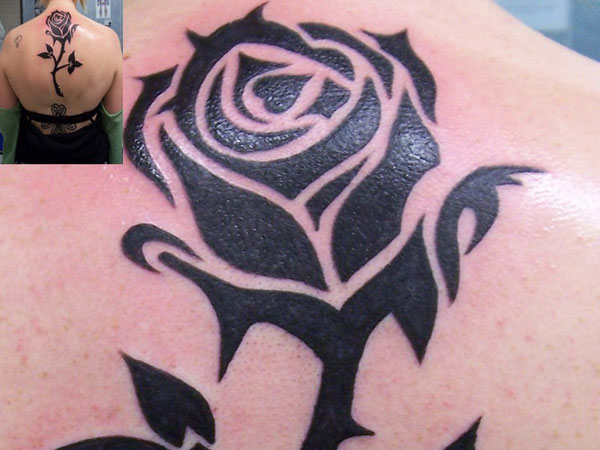 25 exceptional tribal rose tattoos slodive black beauty urmus Choice Image