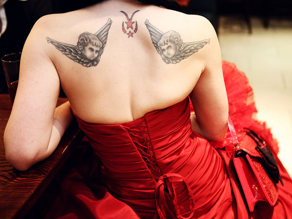 christmas bride 25 Unique Wedding Tattoos