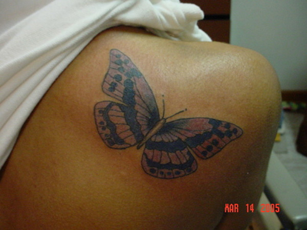 Delicate Butterfly Tattoo
