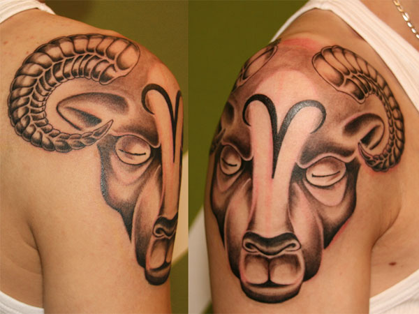 Shoulder Aries Tattoo