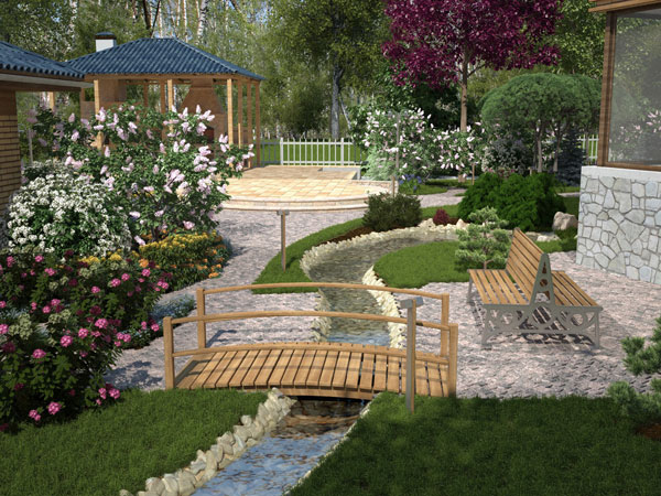 small bridges for gardens