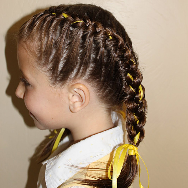 26 Stupendous Braided Hairstyles For Kids - SloDive