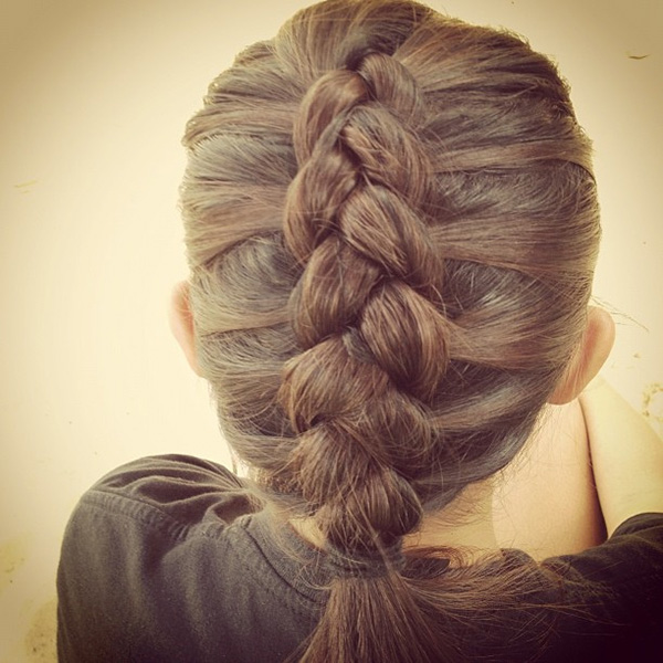 Heavy Braid Hairstyle