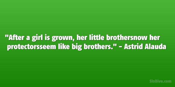 Quotes About Little Brothers From A Big Sister like big brothers