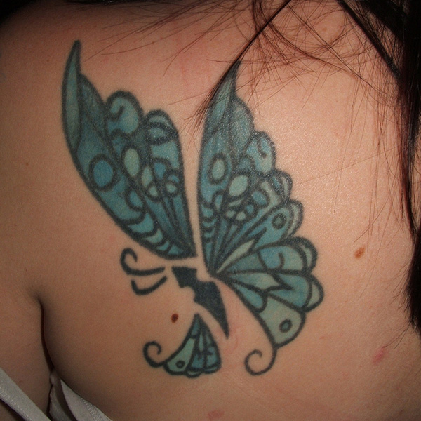 Artistic Butterfly Tattoo