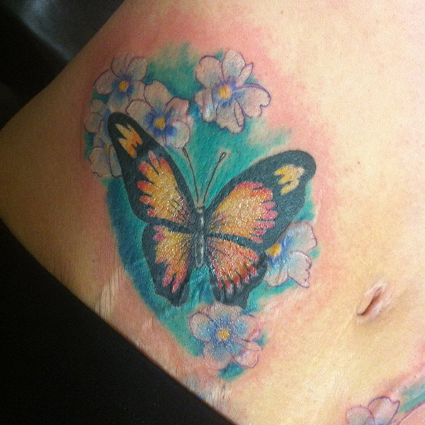 Butterfly  Cover-up Tattoo