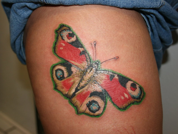 Peacock Butterfly Tattoo