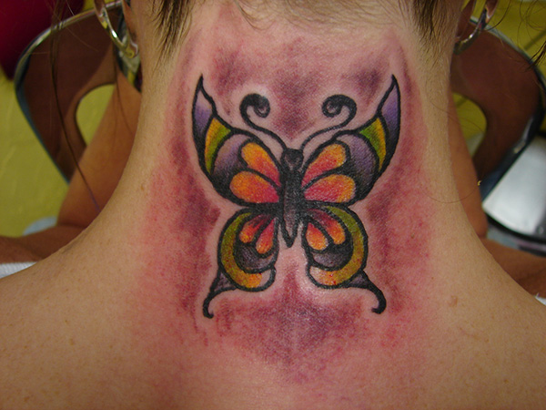 Vibrant Butterfly Tattoo