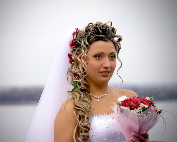 Floral Curly Hairstyle