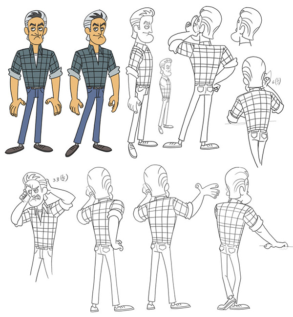 postures drawings - Cartoon Sketches For Kids