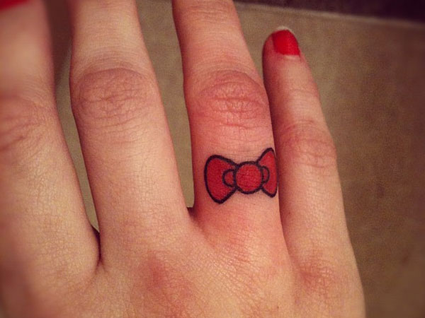 Hello Kitty Bow Tattoo