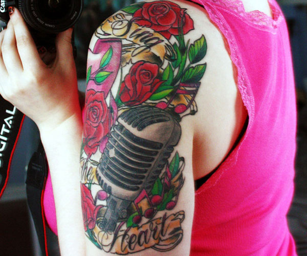 Music Tattoo Half Sleeve