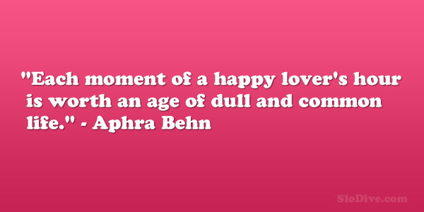 Aphra Behn Quote