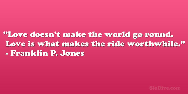 Franklin P. Jones Quote