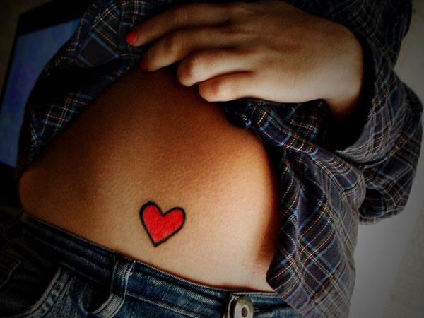 Little Bordered Red Heart