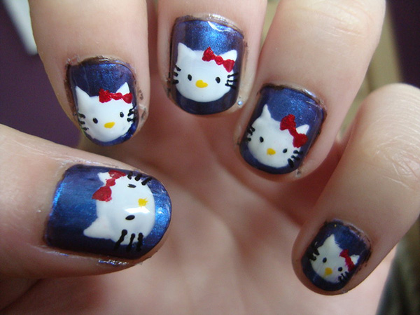 Captivating Hello Kitty Nails