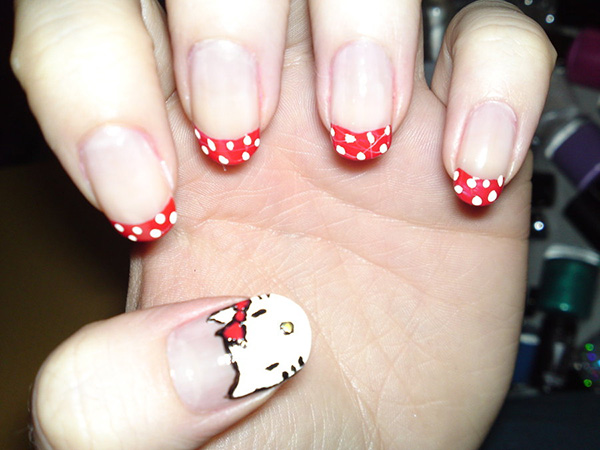 26 Overwhelming Hello Kitty Nail Designs Slodive