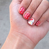 26 Overwhelming Hello Kitty Nail Designs