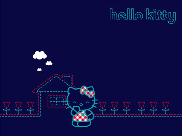 bluekitty 23 Different Hello Kitty Twitter Backgrounds