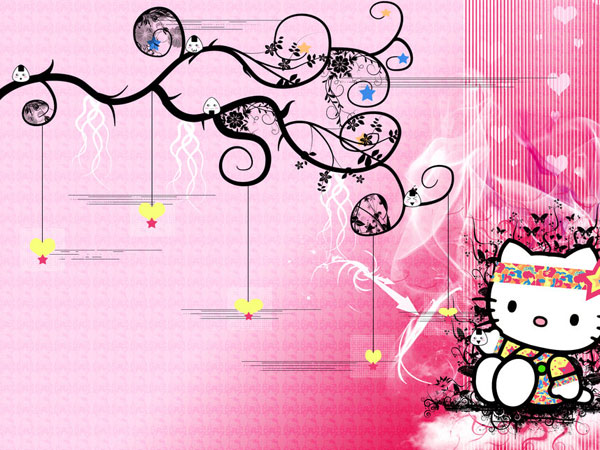 nicewallpaper 23 Different Hello Kitty Twitter Backgrounds