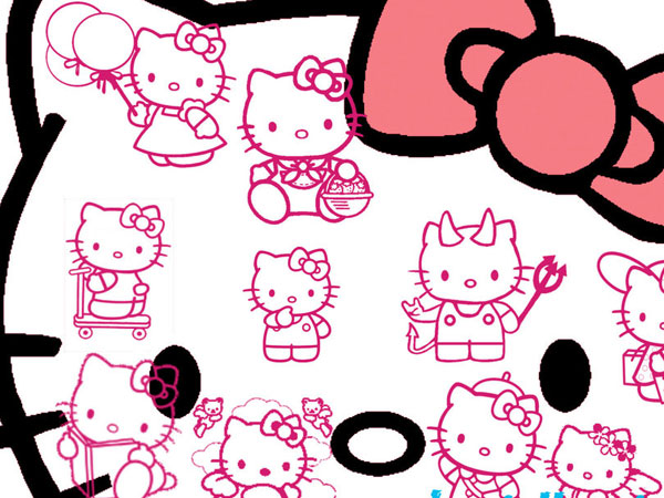 outline 23 Different Hello Kitty Twitter Backgrounds