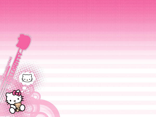 pinkcolor 23 Different Hello Kitty Twitter Backgrounds