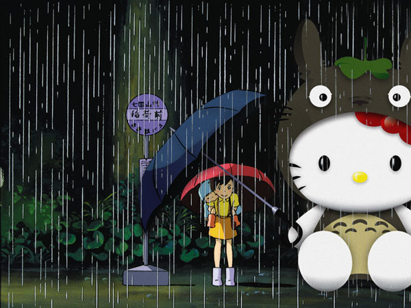 raining 23 Different Hello Kitty Twitter Backgrounds