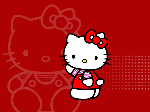 redcolor 23 Different Hello Kitty Twitter Backgrounds
