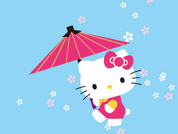 umbrela 23 Different Hello Kitty Twitter Backgrounds