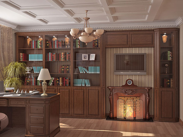 Artificial Fireplace Home Office