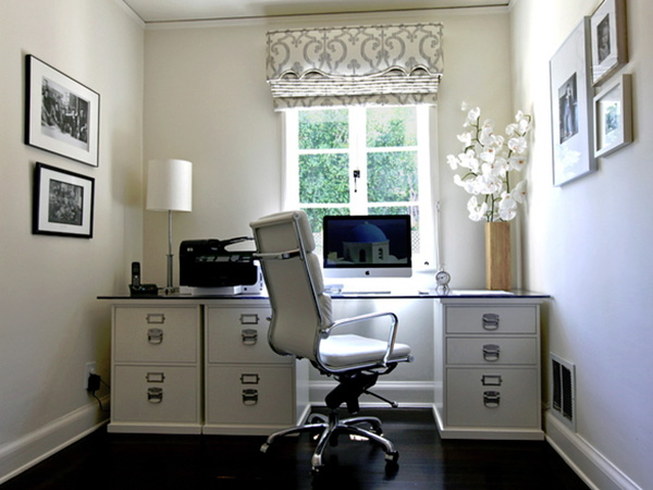 Brightly Lit Home Office