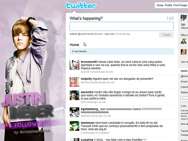 twitter 24 Original Justin Bieber Twitter Backgrounds