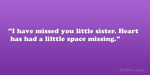 26 Astounding Little Sister Quotes - SloDive