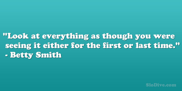 Betty Smith Quote