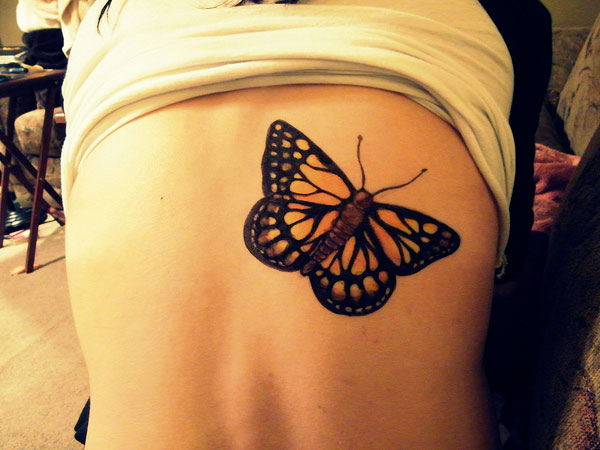 Monarch Butterfly Tattoo On Shoulder