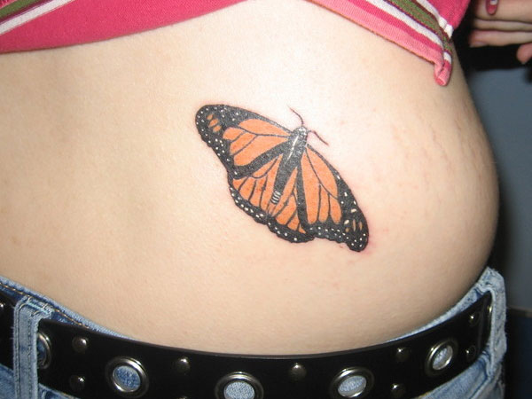 Lower Body Tattoos: 24 Magnificent Monarch Butterfly Tattoo List For The Ones