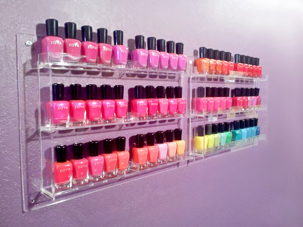 deco polish rack 27 Unbelievable Nail Polish Storage Ideas