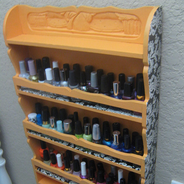 kind nail polish rack 27 Unbelievable Nail Polish Storage Ideas