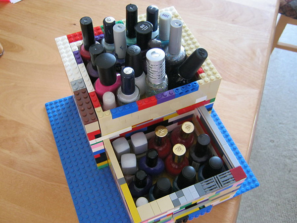 lego nail polish storage 27 Unbelievable Nail Polish Storage Ideas